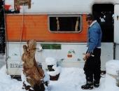 sassofonista e neve